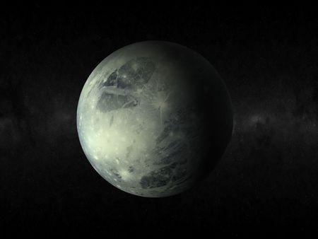 3D del planeta Plutón