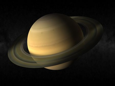 3d rendering of the planet saturn photo