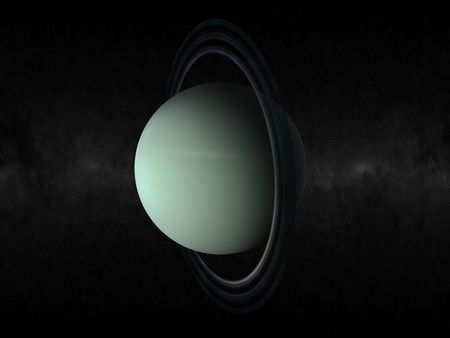 3d rendering of the planet uranus Standard-Bild