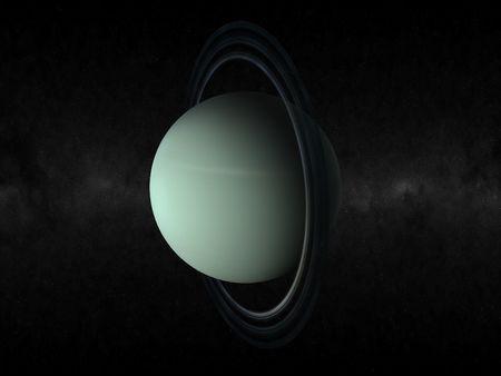 3D-Rendering des Planeten Uranus