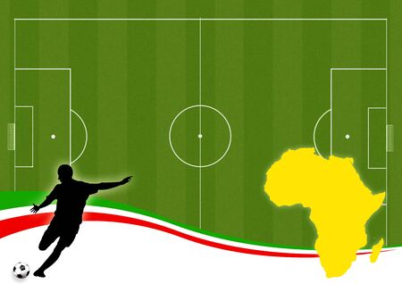 an illustration of africa country on a football theme illustration