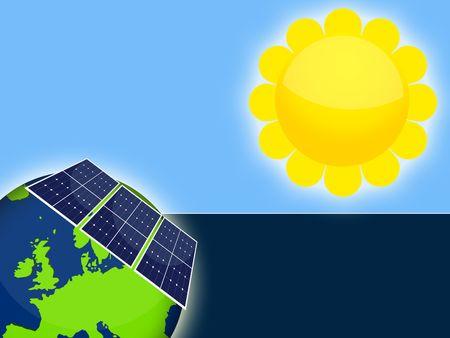 fount: Illustration of solar panels cells for renewable energy Stock Photo
