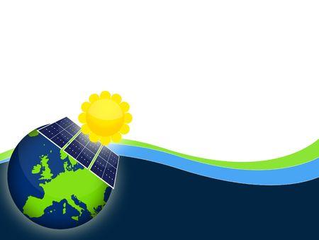 dinamismo: Illustrazione di pannelli di celle solari per l'energia rinnovabile