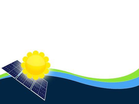 paneles solares: Ilustraci�n de las c�lulas de los paneles solares para las energ�as renovables Foto de archivo