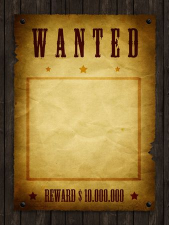 outlaw: an illustration of a wanted retro poster