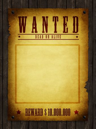 alive: an illustration of a wanted retro poster