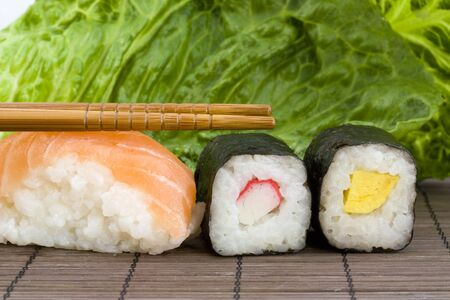 japanes: a background photo of a typical japanes sushi food