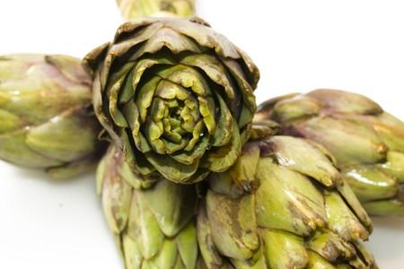 ingest: A photo of fresh artchoke vegetables Stock Photo