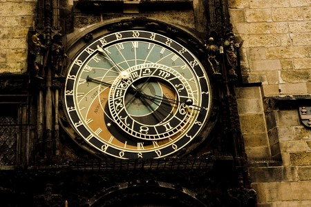 timekeeping: Photo of the astrological clock in Prague Stock Photo