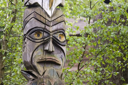 photo of an traditional aboriginal totem photo
