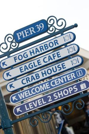 Signals at the famous San Francisco Pier 39