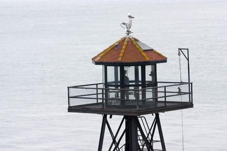 Alcatraz tower control famous island penitentiary Stock Photo - 7521453