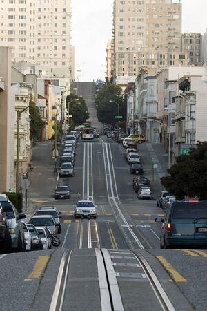 Typische Stra�e in der Innenstadt von San Francisco Lizenzfreie Bilder