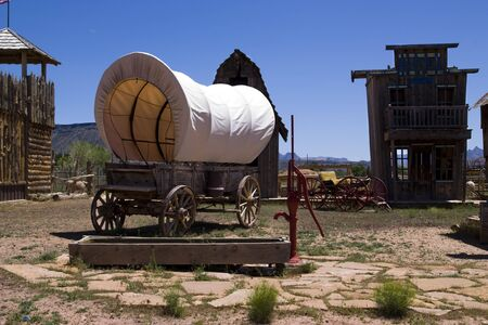 Old west town in the arizona desert in USA