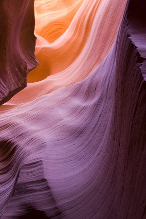Beautiful rocks formations in Antelope Canyon in Arizona Stock Photo - 7565693
