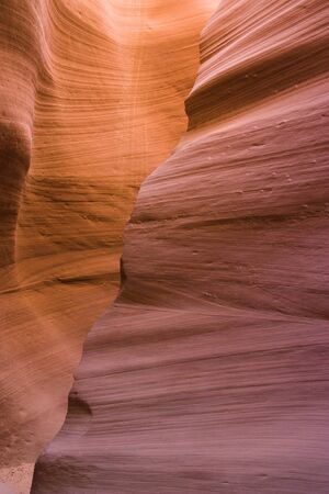 Beautiful rocks formations in Antelope Canyon in Arizona photo