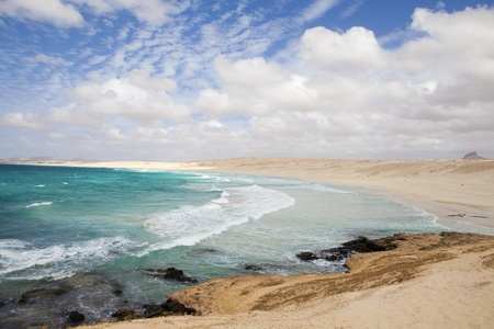 vista: Beautiful panoramic view of Boa Vista coast Stock Photo