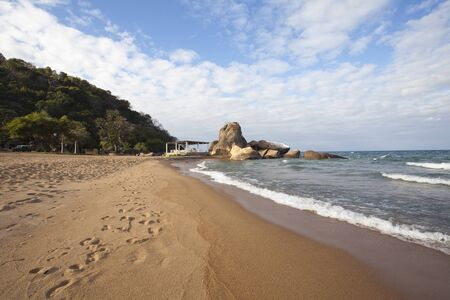 Beautiful landscape view at the Lake Malawi in Africa