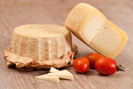 Tasty fresh pecorino cheese from italy