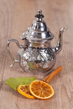tea time set with flavors on wooden background Stock Photo - 10777860