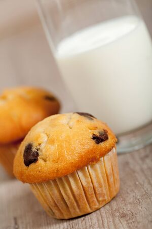 delicious american chocolate muffins for breakfast Stock Photo - 10797046
