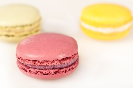 Colorful delicious macarons, typical french pastries Stock Photo - 11021364