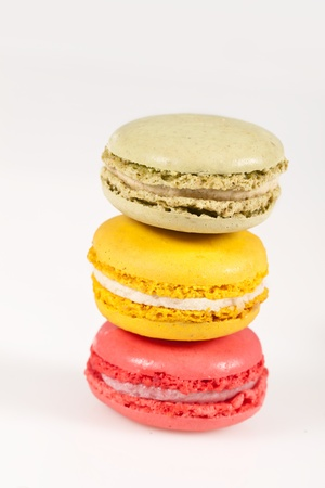 Colorful delicious macarons, typical french pastries Stock Photo - 11021362