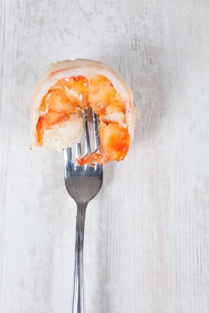 gambas: Delicious fresh prawn tails boiled for healthy nutrition