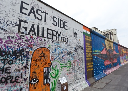 Famous East Side Gallery, the historic division wall in Berlin