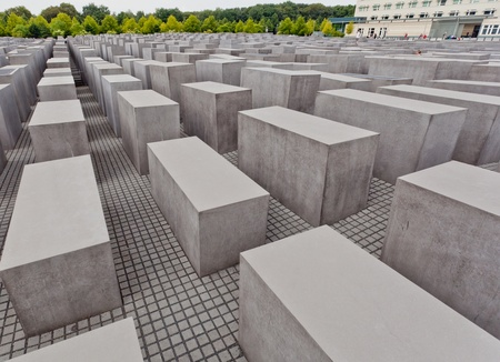 holocaust: Famous touching landmark memorial in Berlin about the Holocaust