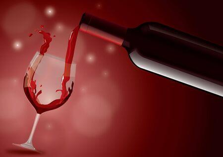Red wine filling glass Stock fotó