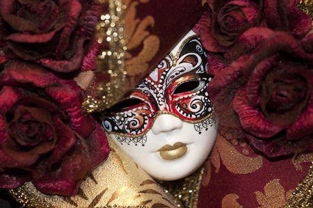 carnevale: Photo of a typical carnival mask in Venice Editorial