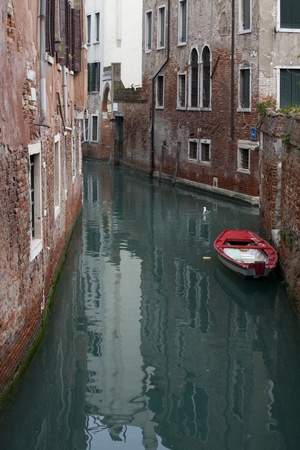 Photo of a typical canal Venice city photo