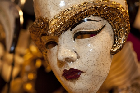 Typical colorful mask from the venice carnival