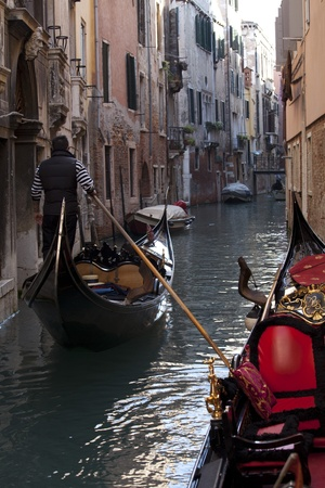 grand canal: Photo of a typical gondola in Venice