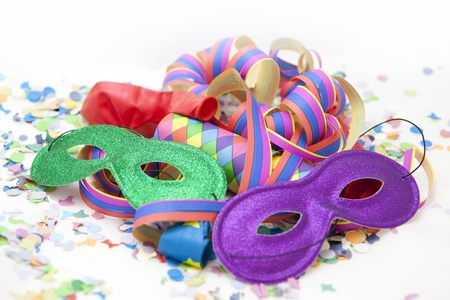 Colorful carnival background with stripes and whistle