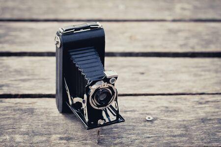 Beautiful old vintage folding camera