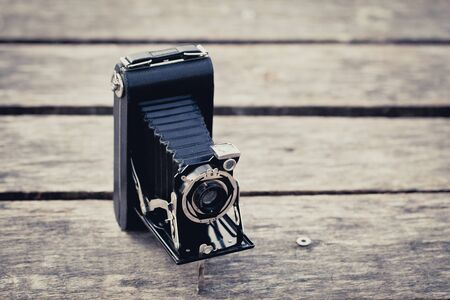 Beautiful old vintage folding camera