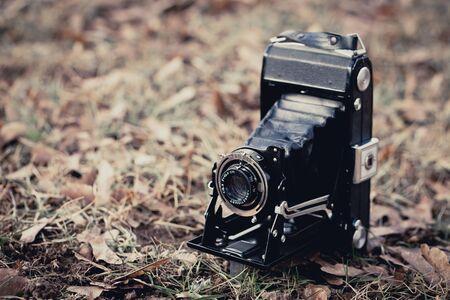 folding camera: Beautiful old folding camera with a nice design