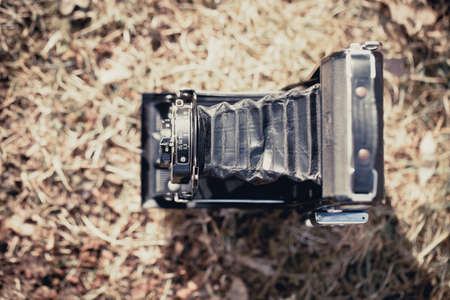folding camera: Beautiful old folding camera with a nice design Stock Photo