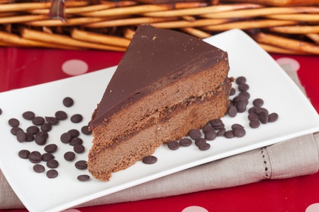 pic nic: Delicious slice of home made Sachertorte cake