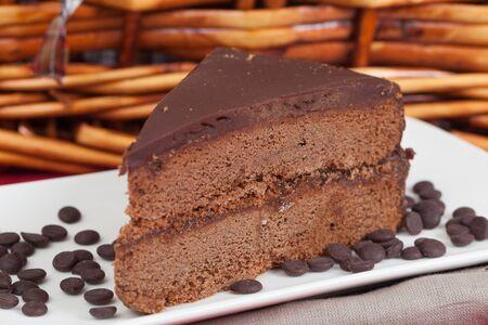 pic nic: Delicious slice of home made Sachertorte cake