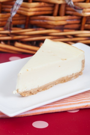 pic nic: Delicious slice of an home made cheesecake