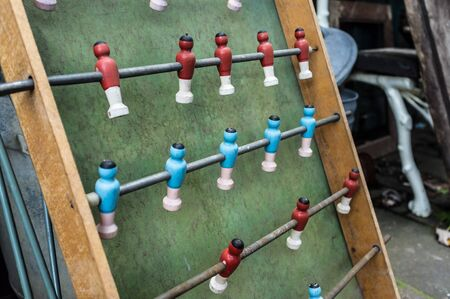Old vintage kickers game in wood material photo