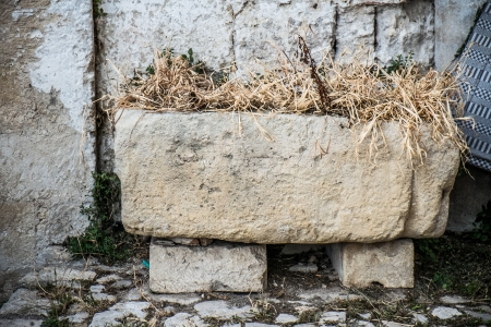 Old  stone manger in the old town of Matera