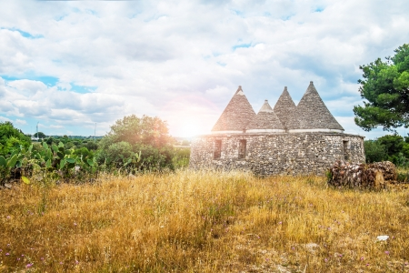 Trulli, old stones houses typical in the south of italy