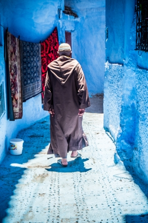 The beautiful blue medina of Chefchaouen in Morocco Stockfoto