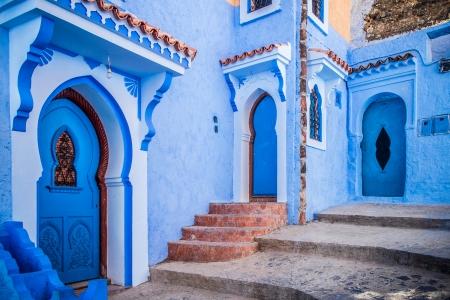 モロッコ chefchaouen 美しい青いメディナ