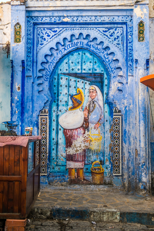 medina: The beautiful blue medina of Chefchaouen in Morocco Stock Photo