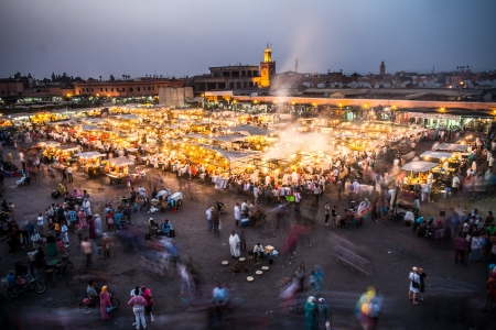 The famous theathre of Djemaa El Fna in Marrakech